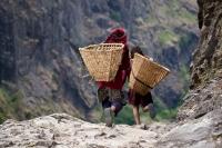 Children in Nepal Mountains